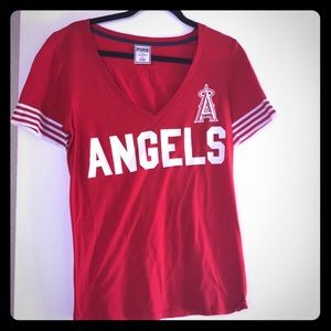 VS Pink MLB Tee Shirt SZ L.